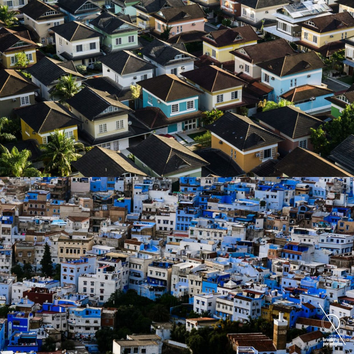 Informal and formal settlements in two pictures