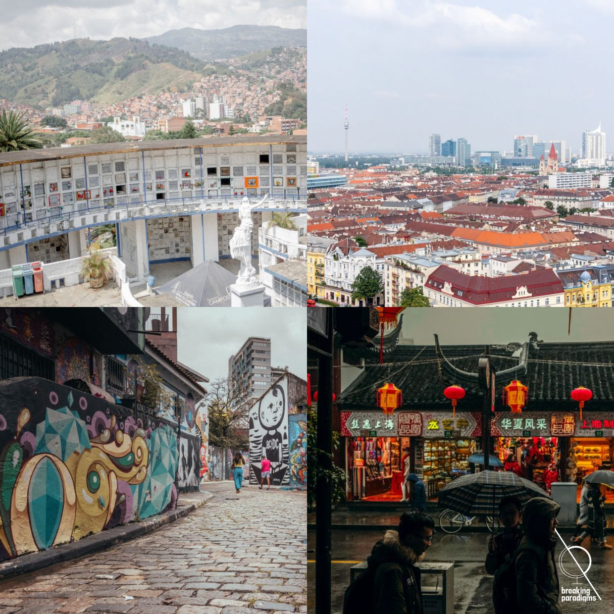 four cities with different approaches to walkability