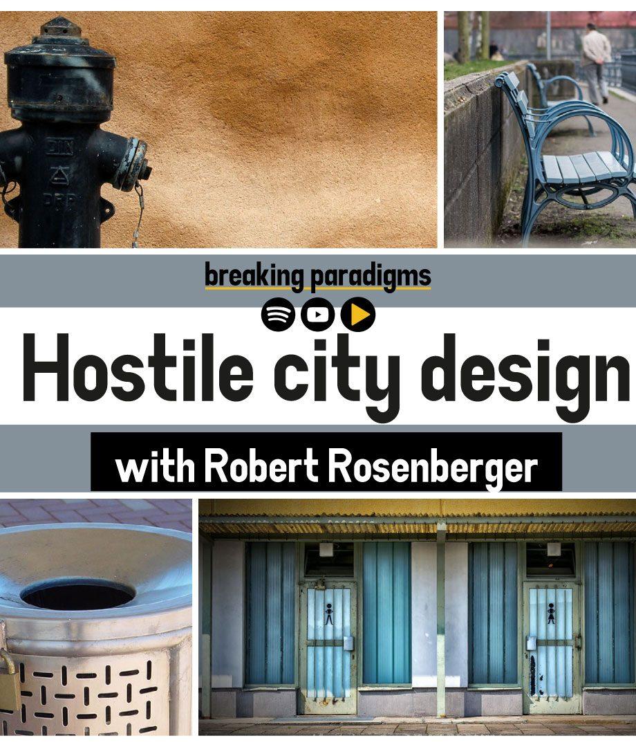 Hostile city design